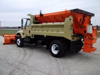 2005 International 7400 Snow Plow Dump Truck, 11', Dump with Spreader ., . 2