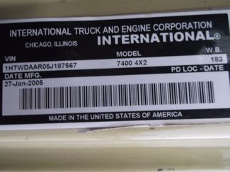 2005 International 7400 Snow Plow Dump Truck, 11', Dump with Spreader ., . 22