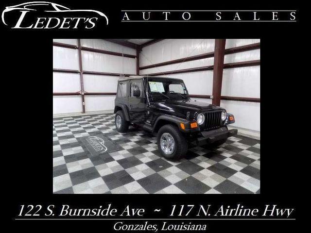 2005 Jeep Wrangler SE 4WD - Ledet's Auto Sales Gonzales_state_zip in Gonzales Louisiana