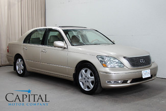 2005 Lexus LS 430 V8 Luxury Car with Climate Controlled Seats, Heated Rear Seats & Premium Sound Pkg in Eau
