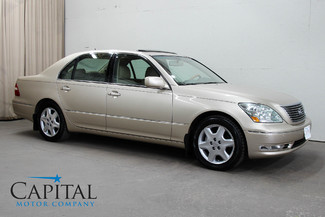 2005 Lexus LS 430 V8 Luxury Car with Climate Controlled Seats, Heated Rear Seats & Premium Sound Pkg in Eau Claire