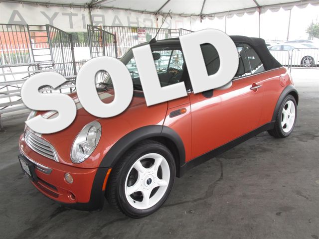 2005 MINI Convertible Please call or e-mail to check availability All of our vehicles are avail
