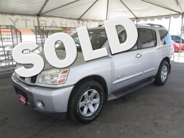 2005 Nissan Armada SE This particular vehicle has a SALVAGE title Please call or email to check a