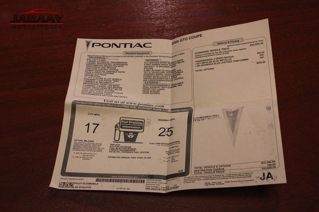 2005 Pontiac GTO Merrillville, Indiana 46