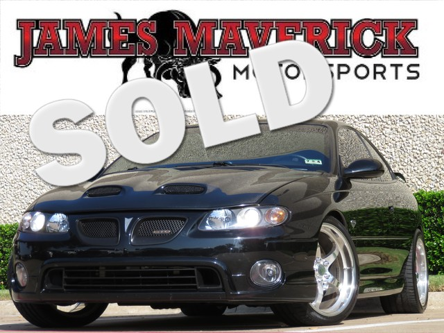 2005 Pontiac GTO Supercharged 2dr Coupe This vehicle has been featured in High Performance Magazin
