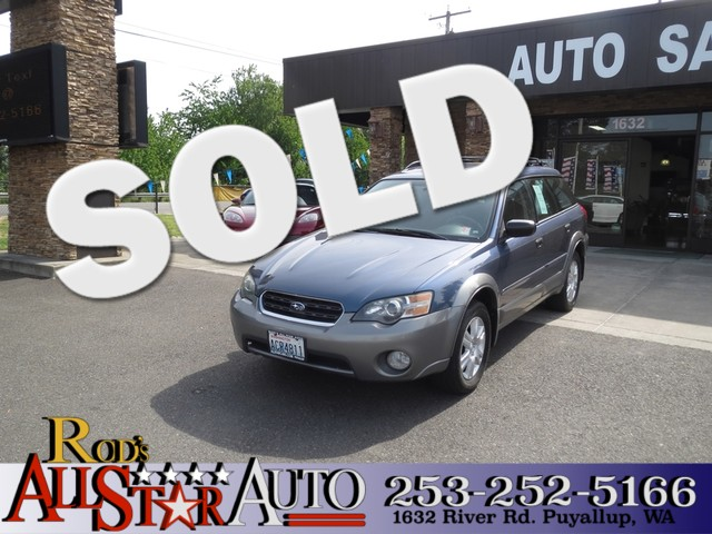 2005 Subaru Outback AWD The CARFAX Buy Back Guarantee that comes with this vehicle means that you