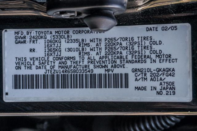 2005 Toyota 4Runner SR5 Reseda, CA 33