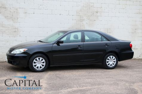 2005 Toyota Camry LE Sedan with JBL Premium Audio,  Power Seat, A/C, Cruise & Gets 34MPG in Eau Claire