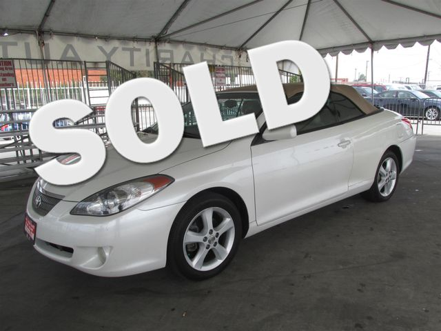2005 Toyota Camry Solara SLE This particular Vehicles true mileage is unknown TMU Please call