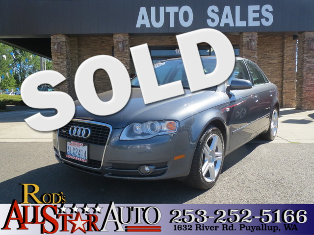 2006 Audi A4 AWD The CARFAX Buy Back Guarantee that comes with this vehicle means that you can buy