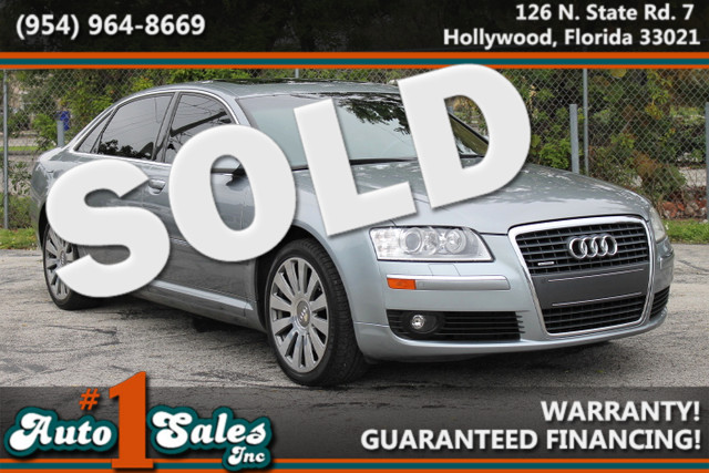 2006 Audi A8 L 42L  WARRANTY CARFAX CERTIFIED 3 OWNERS 31 SERVICE RECORDS FLORIDA VEHICLE