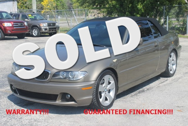 2006 BMW 325Ci  WARRANTY 2 OWNERS FLORIDA VEHICLE  Spring is just around the corner and t