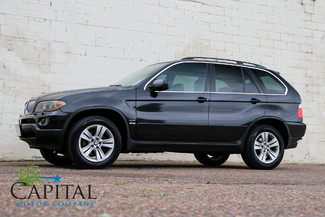 2006 BMW X5 xDrive AWD V8 Sport Luxury SUV with Navigation, Heated Front/Rear Seats, Panoramic Roof & Tow Pkg in Eau Claire