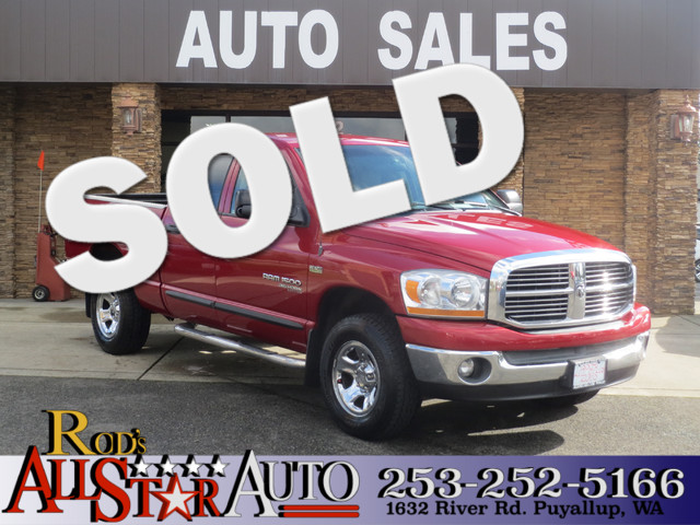 2006 Dodge Ram 1500 SLT 4WD Big Currently the used red Dodge Ram 1500 sits on our used car dealer