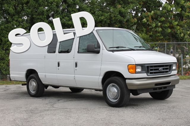 2006 Ford Econoline Cargo Van  WARRANTY CARFAX CERTIFIED 2 OWNERS 7 SERVICE RECORDS FLORIDA