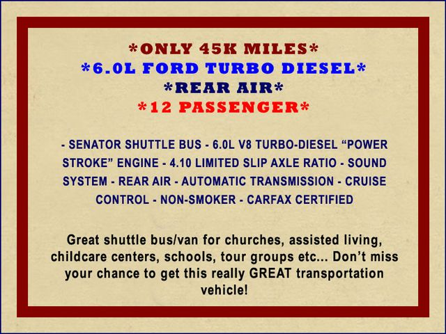 2006 Ford Econoline Commercial Cutaway E350 12 PASS Shuttle Bus/Van - 6.0L DIESEL! Mooresville , NC 1