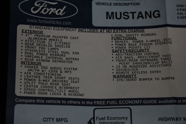 2006 Ford Mustang GT Premium - SPORT APPEARANCE PKG Mooresville , NC 35