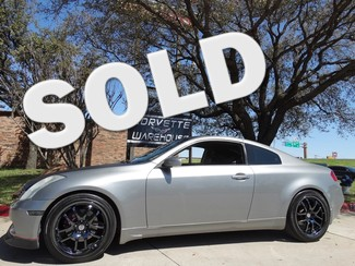 2006 Infiniti G35 Coupe Leather, Carbon Top, Blk Rims, Perf Exhaust! Dallas, Texas