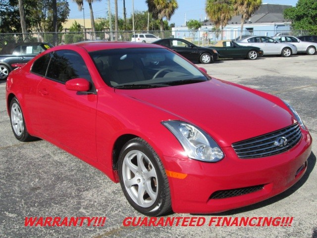 2006 Infiniti G35 2006 INFINITI G35 SPORTS COUPE WITH WARRANTY RED EXTERIOR ON TAN LEATHER INTERI