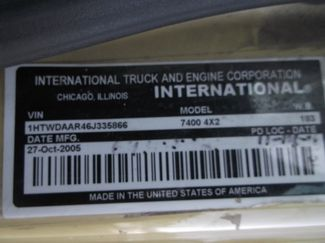 2006 International 7400 Snow Plow Dump Truck, 11', Dump with Spreader ., . 30