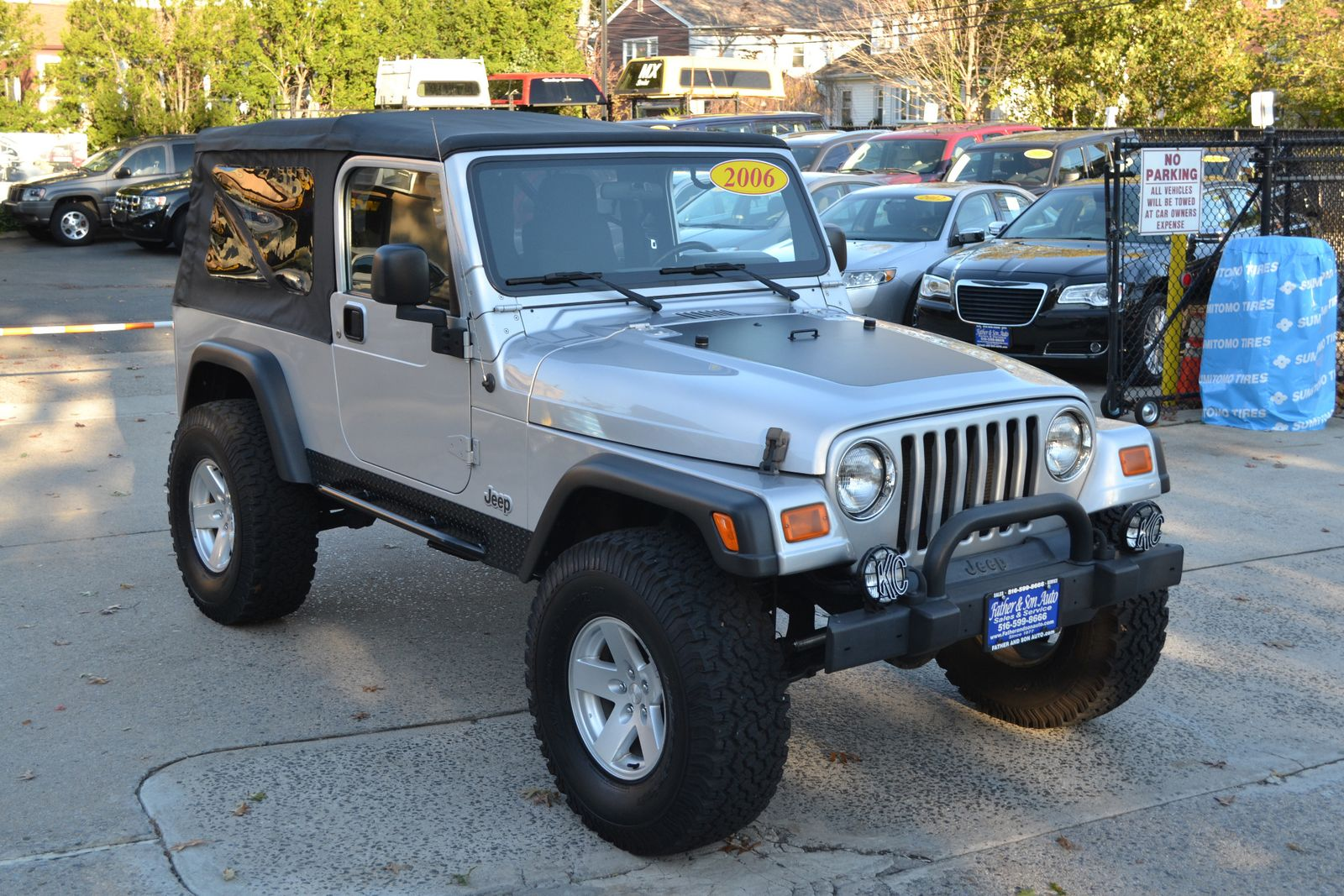 2006 jeep wrangler unlimited lwb city new father son auto corp