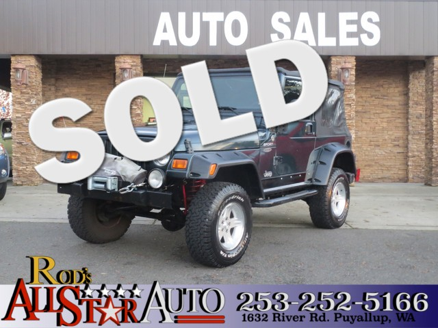 2006 Jeep Wrangler Sport 4WD The CARFAX Buy Back Guarantee that comes with this vehicle means that