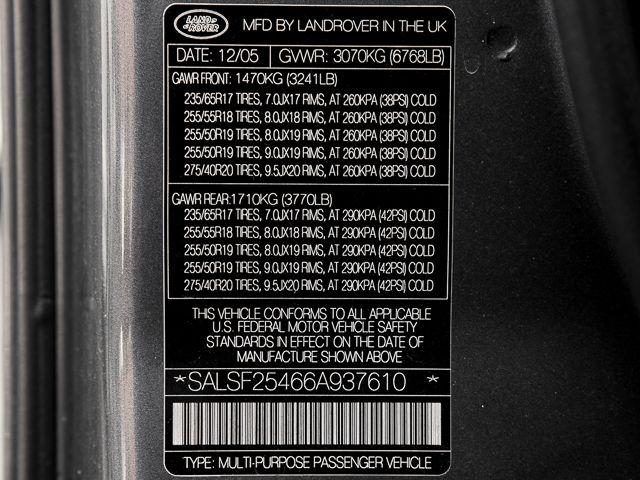 2006 Land Rover Range Rover Sport HSE Burbank, CA 21