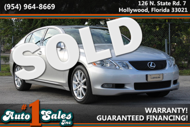 2006 Lexus GS 300  WARRANTY CARFAX CERTIFIED AUTOCHECK CERTIFIED 2 OWNERS FLORIDA VEHICLE