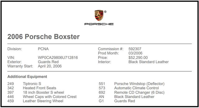 2006 Porsche Boxster RWD - HEATED LEATHER - TIPTRONIC! Mooresville , NC 6