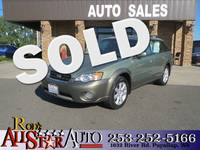 2006 Subaru Outback 25i Ltd The CARFAX Buy Back Guarantee that comes with this vehicle means that
