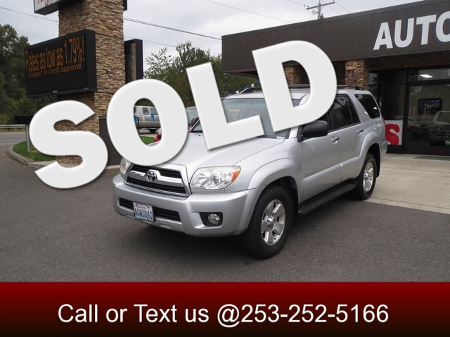 2006 Toyota 4Runner SR5 Sport The CARFAX Buy Back Guarantee that comes with this vehicle means tha