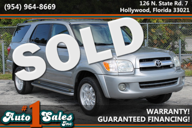 2006 Toyota Sequoia SR5  WARRANTY 2 OWNERS 13 SERVICE RECORDS FLORIDA VEHICLE TRADES WELCOM