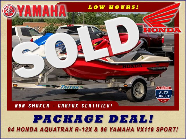 2006 Yamaha VX110  Sport & 2004 Honda Aquatrax R-12X Mooresville , NC 0