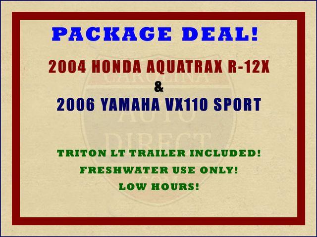 2006 Yamaha VX110  Sport & 2004 Honda Aquatrax R-12X Mooresville , NC 2