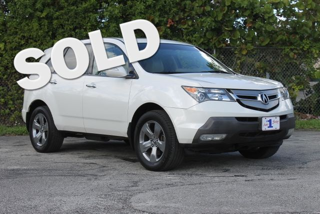2007 Acura MDX Sport Pkg  WARRANTY CARFAX CERTIFIED 22 SERVICE RECORDS 3RD ROW SEAT FLORIDA