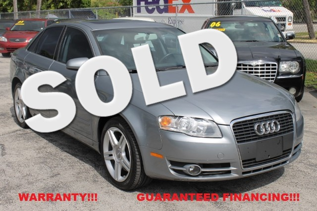 2007 Audi A4 20T  WARRANTY 3 OWNERS 22 SERVICE RECORDS FLORIDA VEHICLE  This 2007 Audi