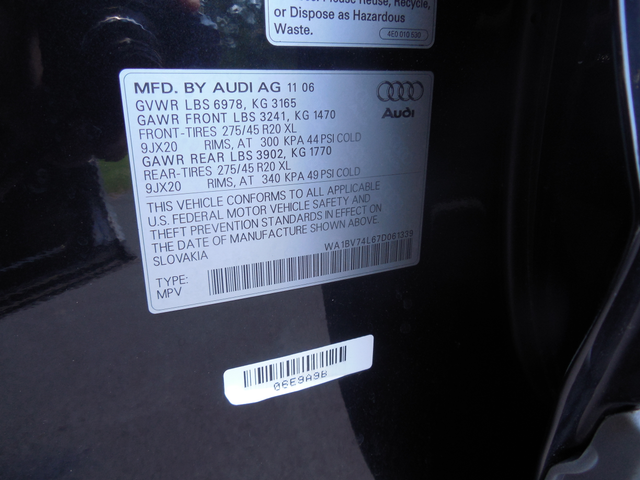 2007 Audi Q7 Premium Leesburg, Virginia 32