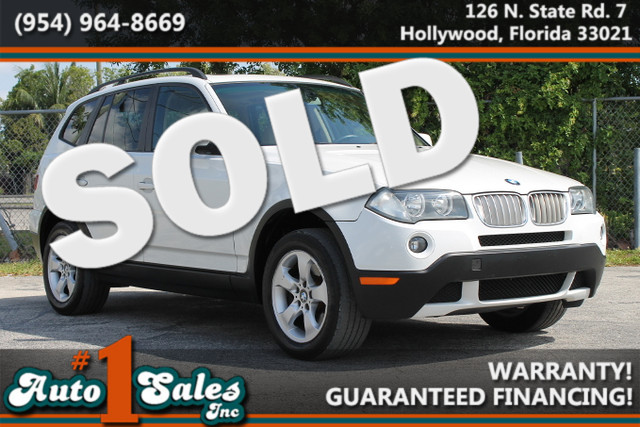 2007 BMW X3 30si  WARRANTY CARFAX CERTIFIED AUTOCHECK CERTIFIED ONE OWNER FLORIDA VEHICLE