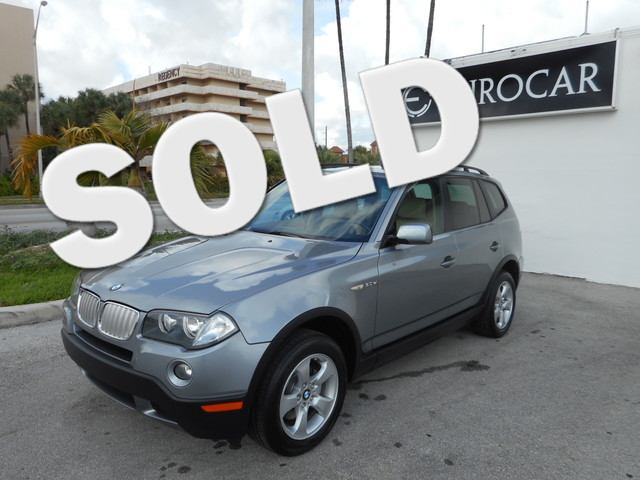 2007 BMW X3 30si 30si CLEAN CARFAX LEATHER SUNROOF  MOONROOF LOW MILES and LOW MILES