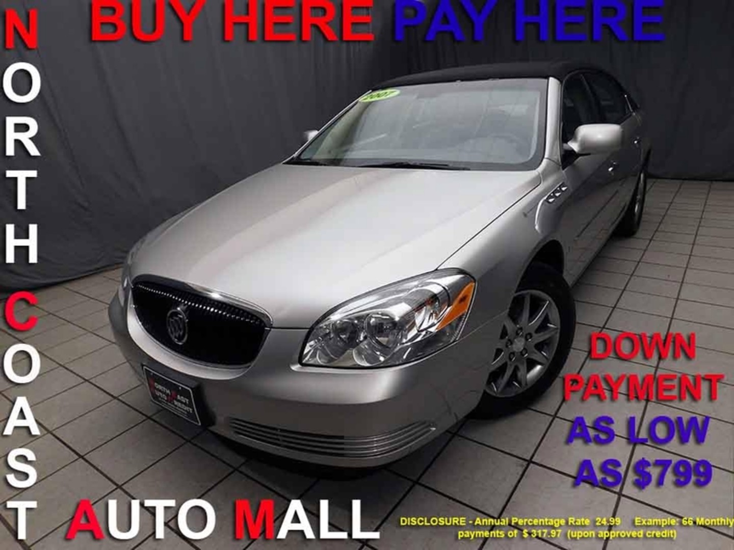 2007 buick lucerne v6 cxl as low as 799 down city ohio north coast auto mall of cleveland. Black Bedroom Furniture Sets. Home Design Ideas