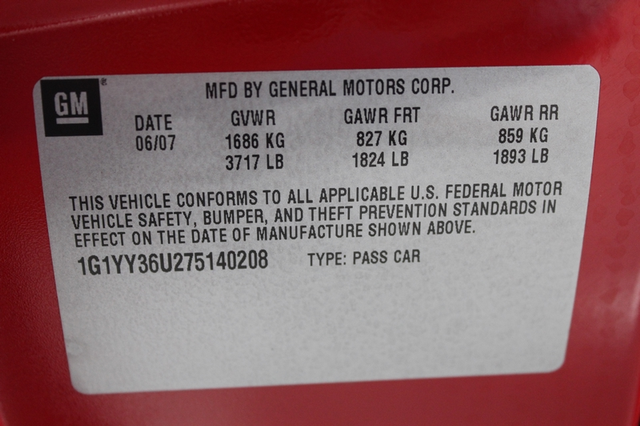 2007 Chevrolet Corvette Merrillville, Indiana 51