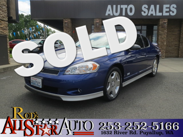 2007 Chevrolet Monte Carlo SS The CARFAX Buy Back Guarantee that comes with this vehicle means tha