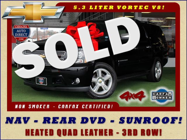2007 Chevrolet Suburban LTZ 4X4 - NAV - REAR DVD - SUNROOF! Mooresville , NC 0