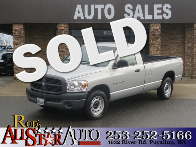 2007 Dodge Ram 1500 ST The CARFAX Buy Back Guarantee that comes with this vehicle means that you c