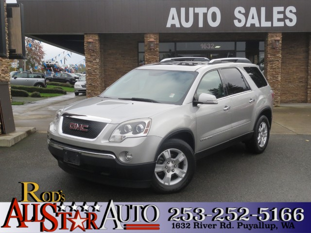 2007 GMC Acadia SLT AWD The CARFAX Buy Back Guarantee that comes with this vehicle means that you