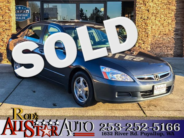 2007 Honda Accord Hybrid This vehicle is a CarFax certified one-owner used car Pre-owned vehicles