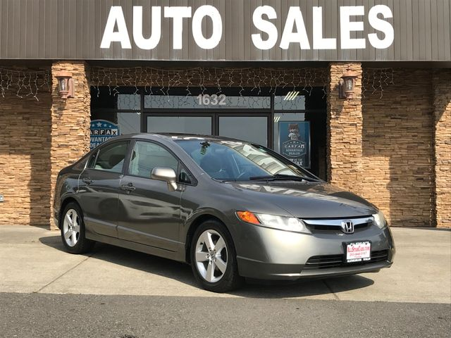 2007 Honda Civic EX Clean CARFAX Gray 2007 Honda Civic EX FWD 5-Speed Manual with Overdrive 18L