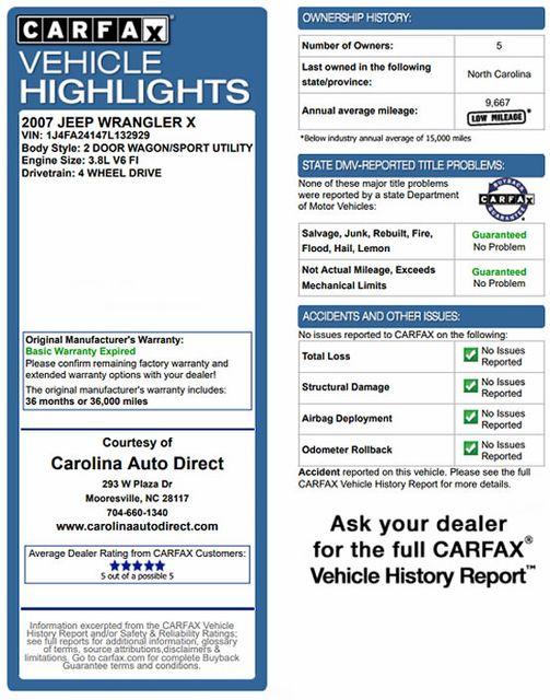 2007 Jeep Wrangler X 4X4  - BESTOP - LED LIGHT BARS! Mooresville , NC 3