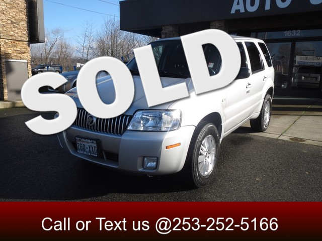 2007 Mercury Mariner Premier 4WD Our classy 07 Mariner delivers more of a luxury sedan-like ride w