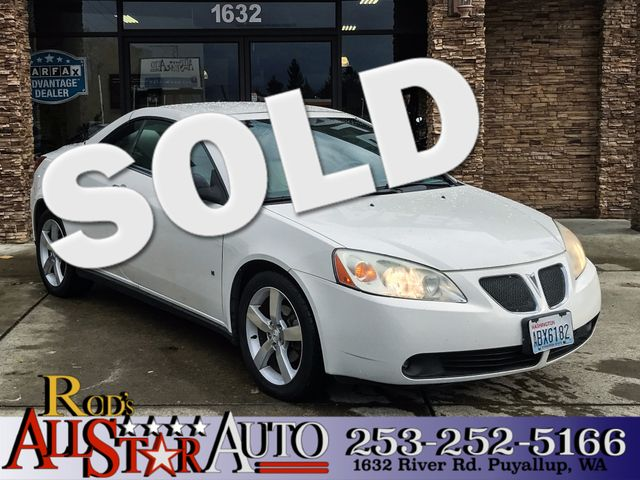2007 Pontiac G6 GT The CARFAX Buy Back Guarantee that comes with this vehicle means that you can b